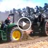 Régi gőztraktor és az új Dízel traktor párbaja