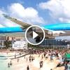 Így landol egy Boeing 747, alig 30 méterre a strandolóktól!