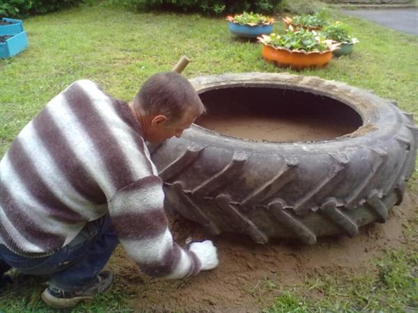 Csináld magad medence traktorgumiból 2